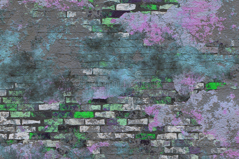 Ladrillo Grunge del chapoteo del color foto de archivo libre de regalías