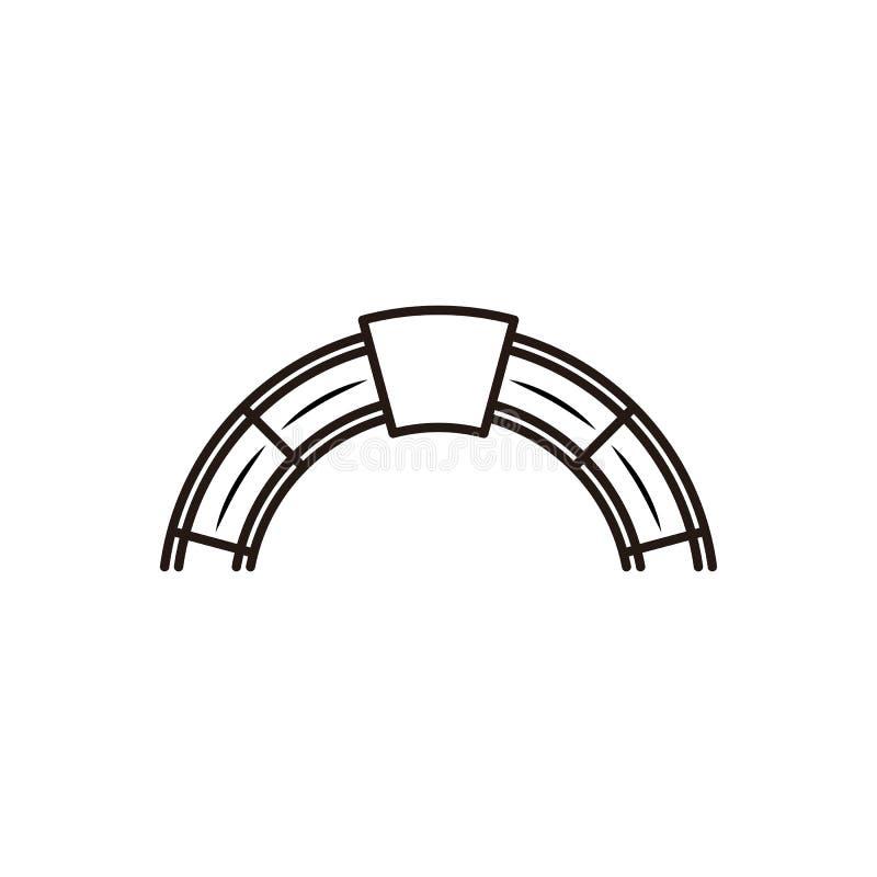 ladrillo rojo, inspiración del diseño del logotipo del horno libre illustration