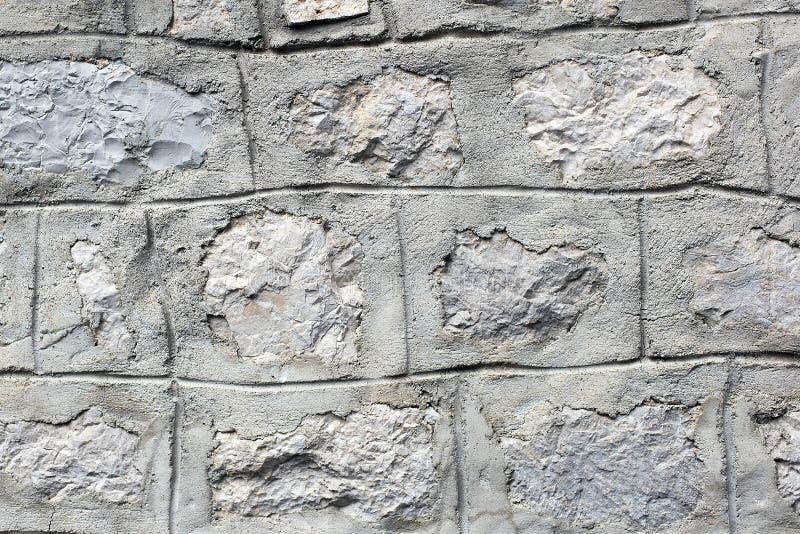 Ladrillo, textura gris de la pared foto de archivo libre de regalías