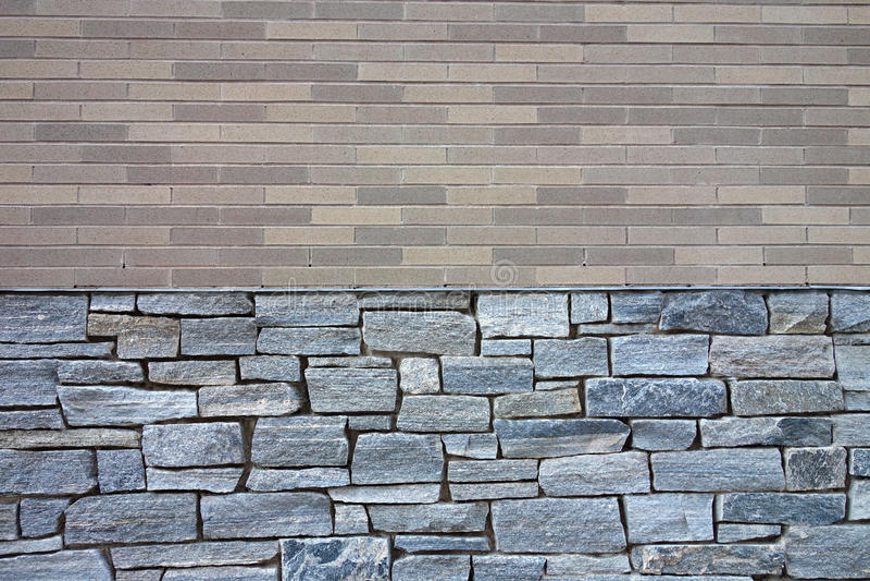 Ladrillo y pared de piedra foto de archivo