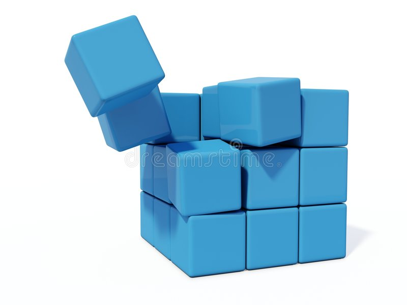 Download Ladrillos azules stock de ilustración. Ilustración de aislado - 7282959