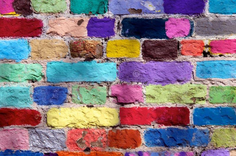 Ladrillos coloreados fotografía de archivo libre de regalías