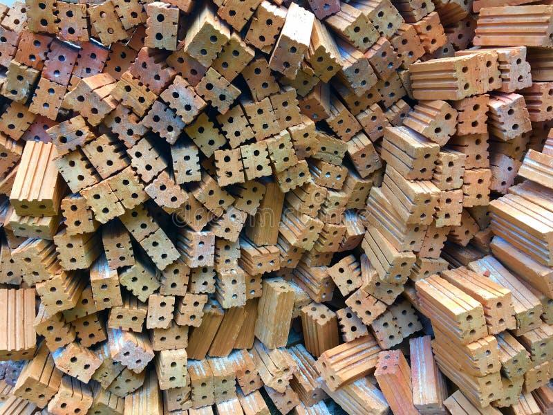 Ladrillos sólidos de la arcilla imágenes de archivo libres de regalías