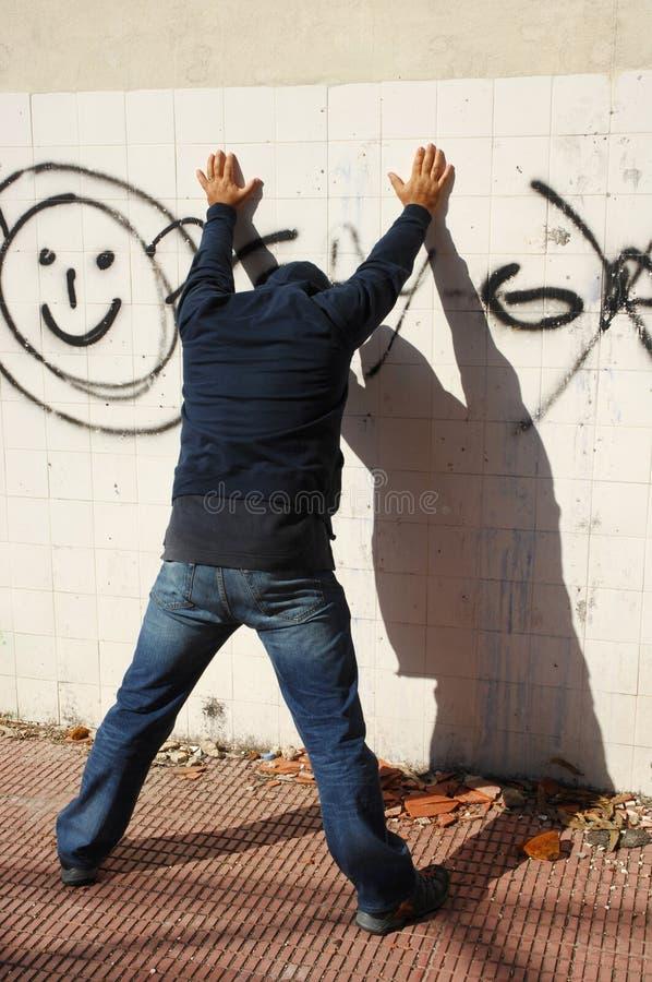 Ladro che è arrestato immagini stock libere da diritti