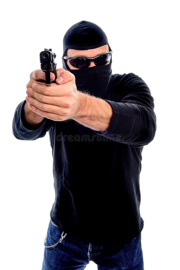 Ladro con gli occhiali da sole immagine stock libera da diritti