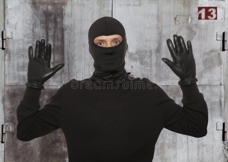 Ladro con la passamontagna immagine stock libera da diritti