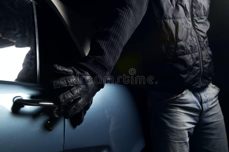 Ladro di automobile fotografie stock libere da diritti