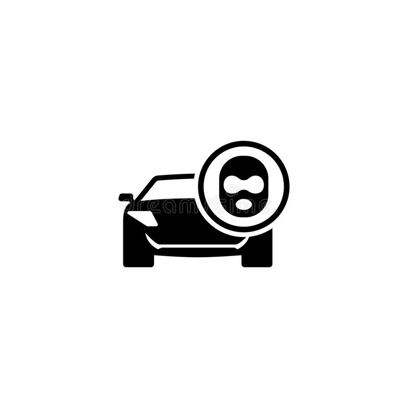 Ladro di automobile Flat Vector Icon illustrazione vettoriale