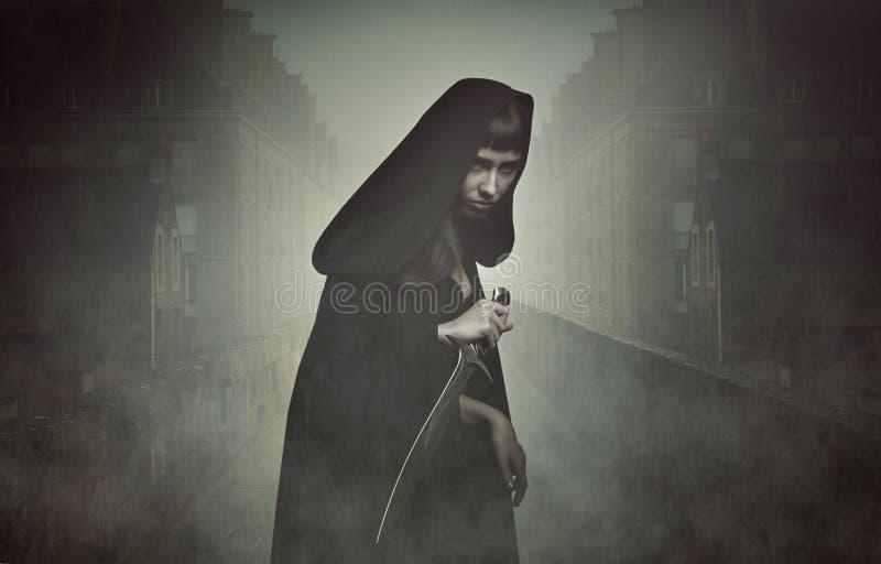 Ladro di fantasia nella nebbia immagine stock libera da diritti
