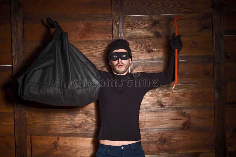 Ladro mascherato fotografia stock libera da diritti