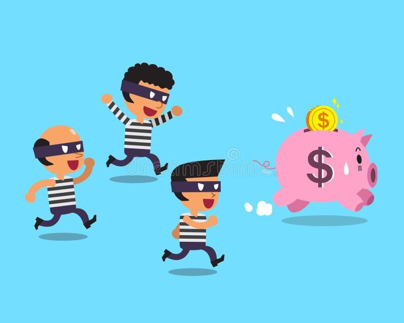 Ladrones de la historieta y guarro rosado libre illustration
