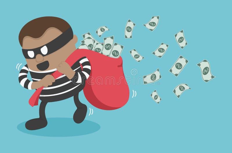 Ladrones que roban el dinero libre illustration