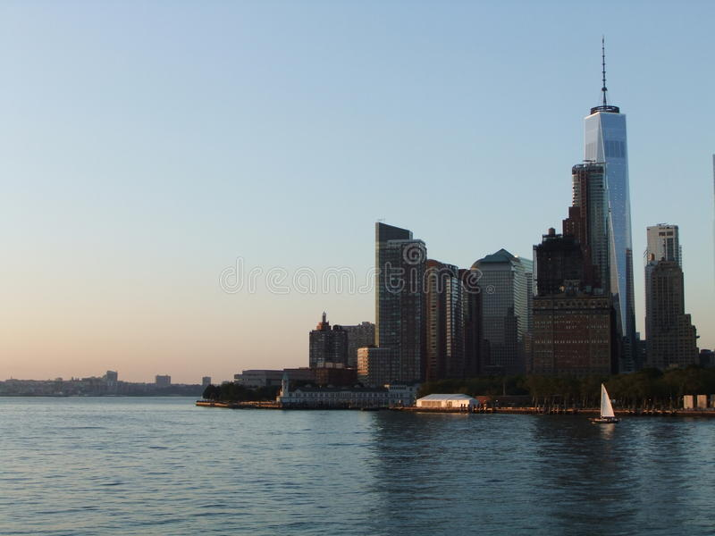 Ladscape Нью-Йорка стоковая фотография rf