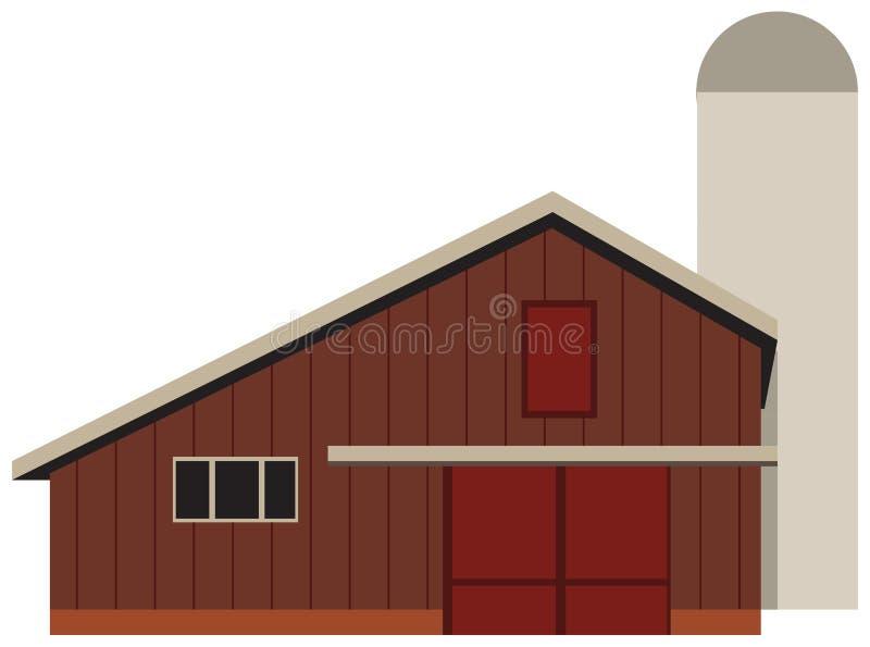 Ladugård för en lantgård stock illustrationer