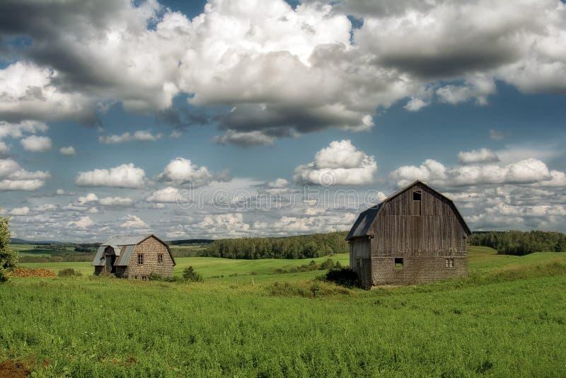 ladugårdar gammala två fotografering för bildbyråer