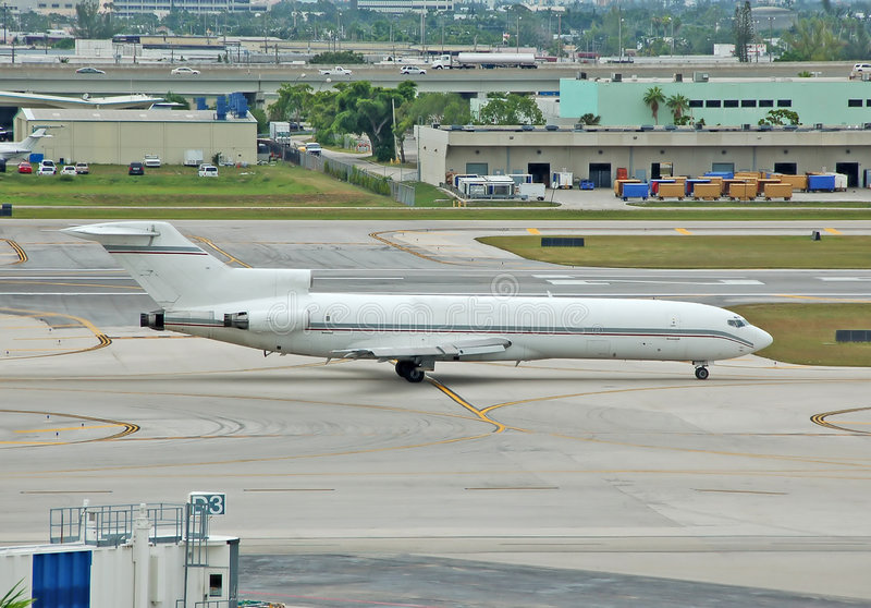 Ladungstrahl Boeing-727 stockfoto