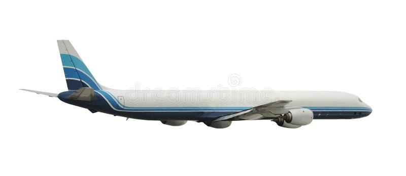 Ladungstrahlenflugzeug getrennt lizenzfreie stockfotografie