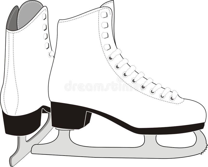 Lady's Ice Skates stock illustration