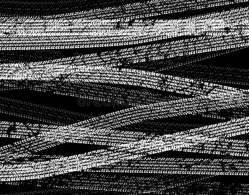 Download ślady ilustracja wektor. Obraz złożonej z błoto, czerń - 5473086