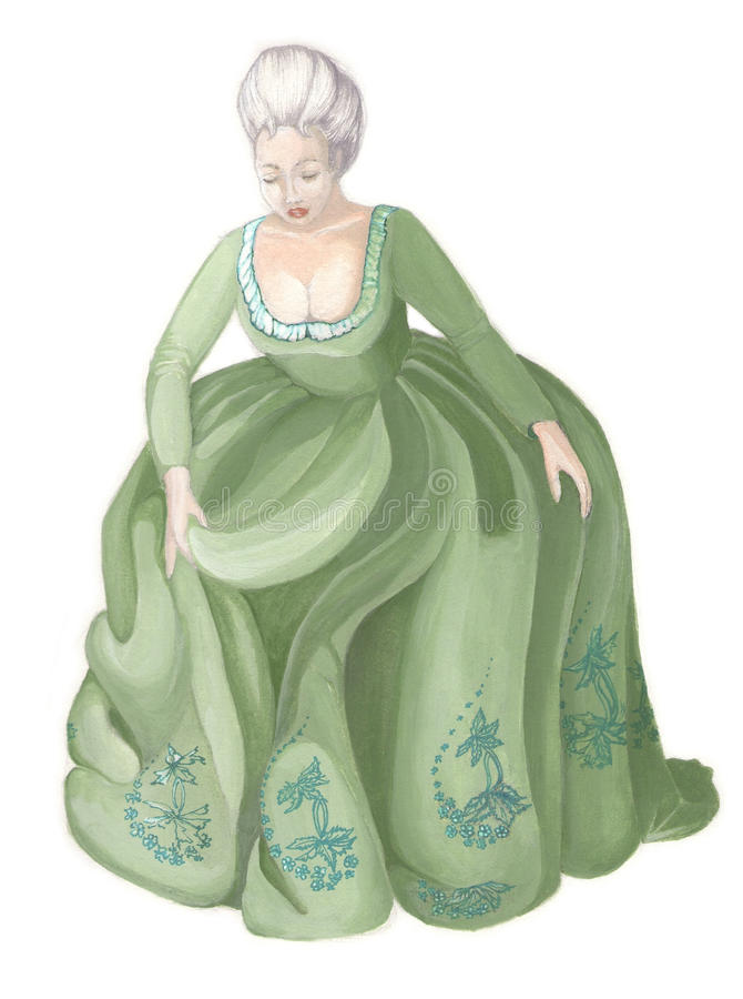 Lady in ancient dress royalty free stock image
