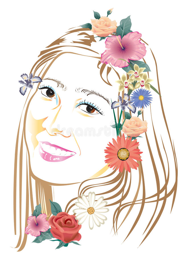 Lady Art Design Stock Photography