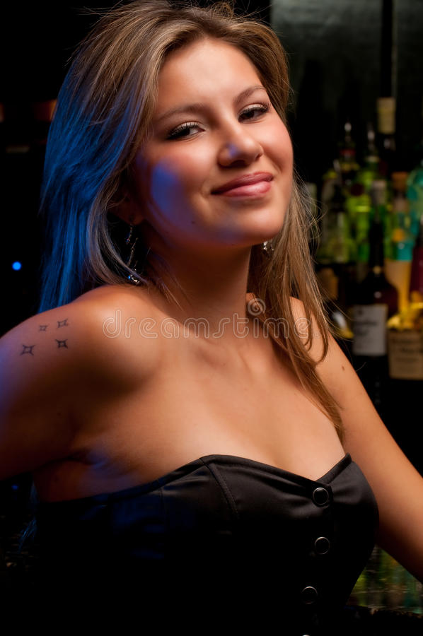 Download Lady In The Bar Royalty Free Stock Photography - Image: 10373727