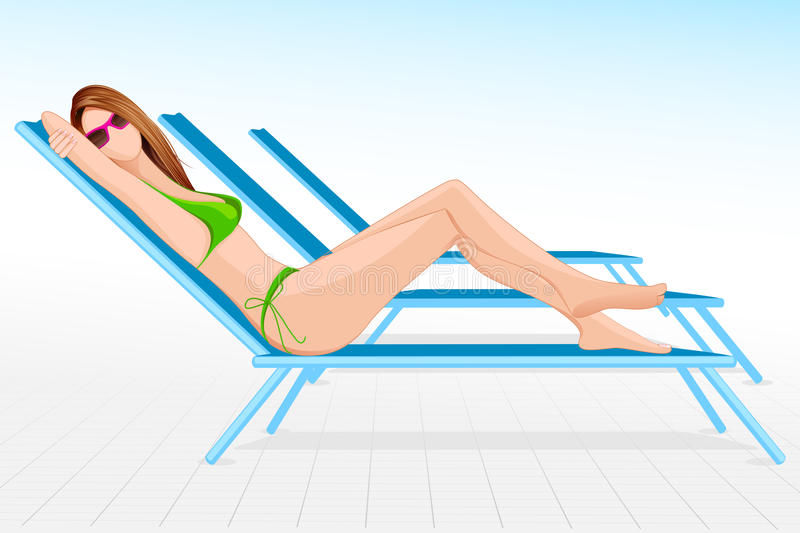 Lady In Beach Chair Stock Photography