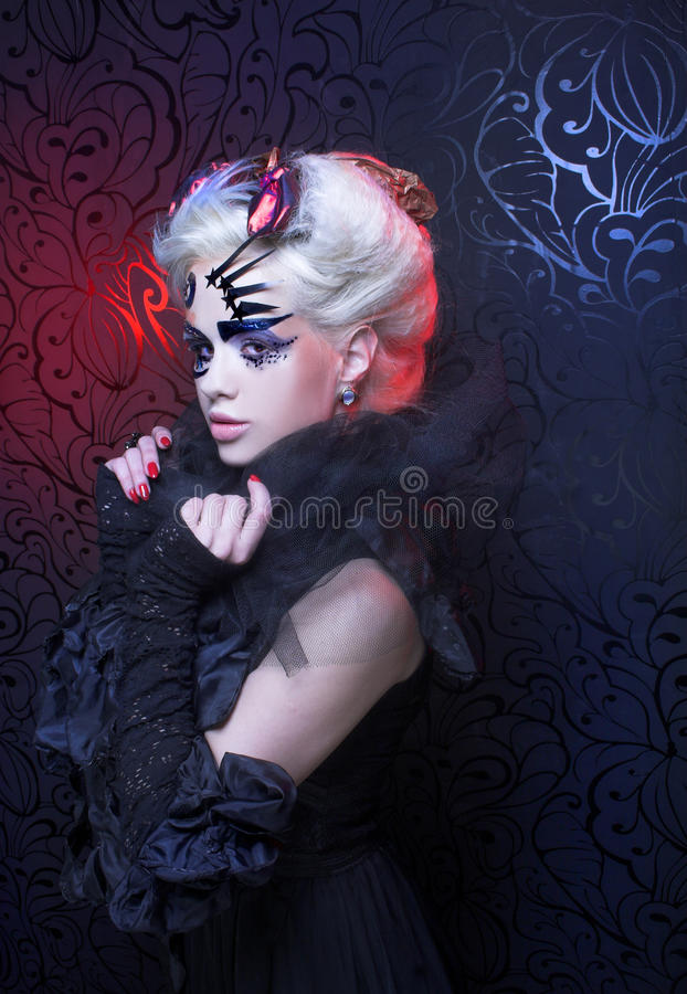 Download Lady in black. stock image. Image of blond, creative - 39847039