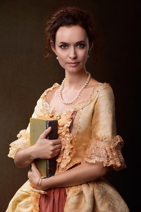 Lady with book royalty free stock photography