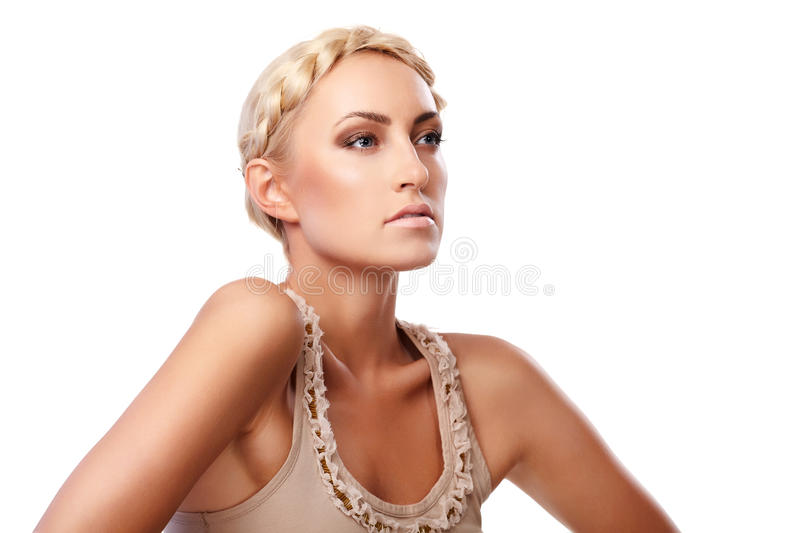 Download Lady with braid stock image. Image of beautiful, adult - 14922193