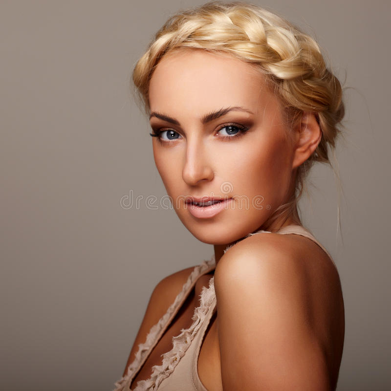 Download Lady with braid stock image. Image of closeup, background - 14922205
