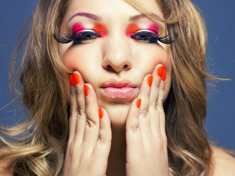 Download Lady with bright makeup stock image. Image of makeup - 26044371