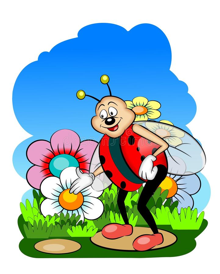 Lady bug stock illustration