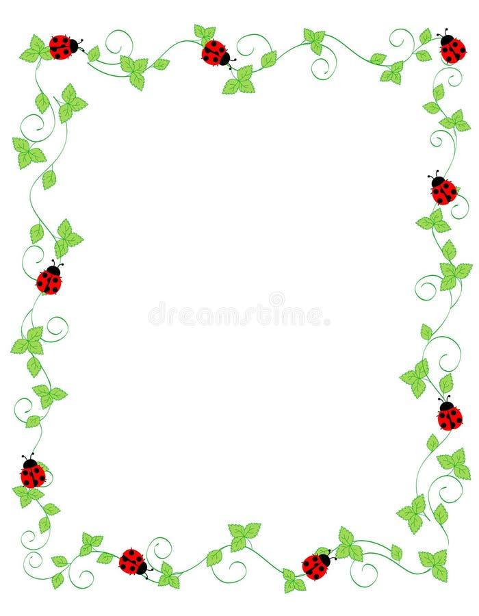 Lady bug frame vector illustration