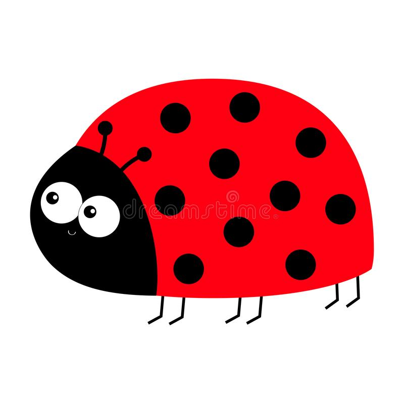 Free Lady Bug Ladybird Insect Icon Print. Side View. Love Greeting Card. Cute Cartoon Kawaii Funny Baby Character. Happy Valentines Day Stock Image - 144997221