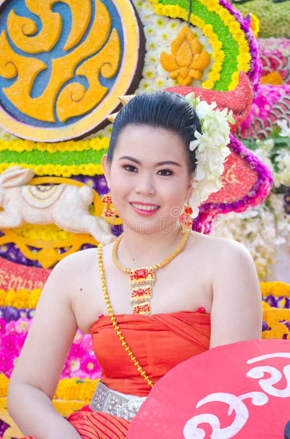 Download Lady In Chiangmai Flower Festival 36th. Editorial Photography - Image: 23198327