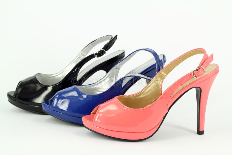 Download Lady colorful shoes stock image. Image of suede, three - 25267661