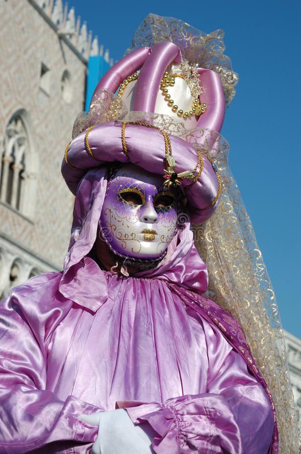 Lady in costume at Carnival of Venice 2011 royalty free stock image