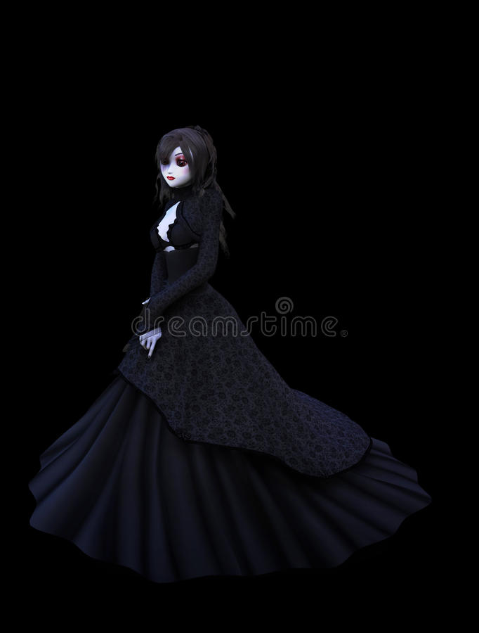 Download Lady in the dark stock illustration. Image of gorgeous - 26643125
