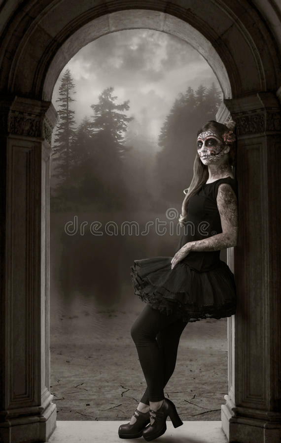 Lady Death waiting royalty free stock image