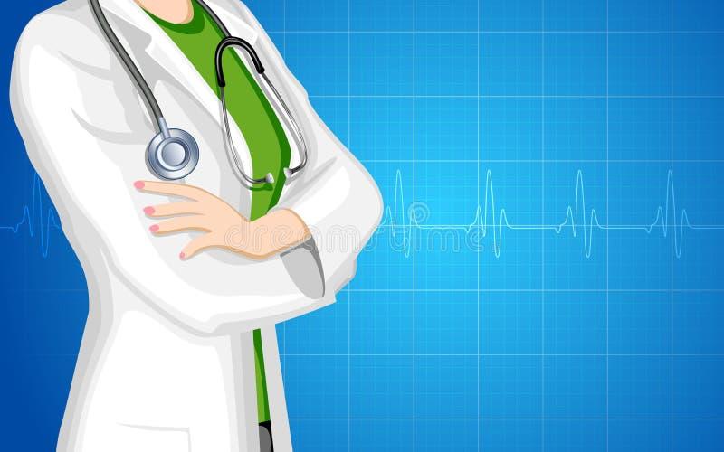 Lady Doctor royalty free illustration