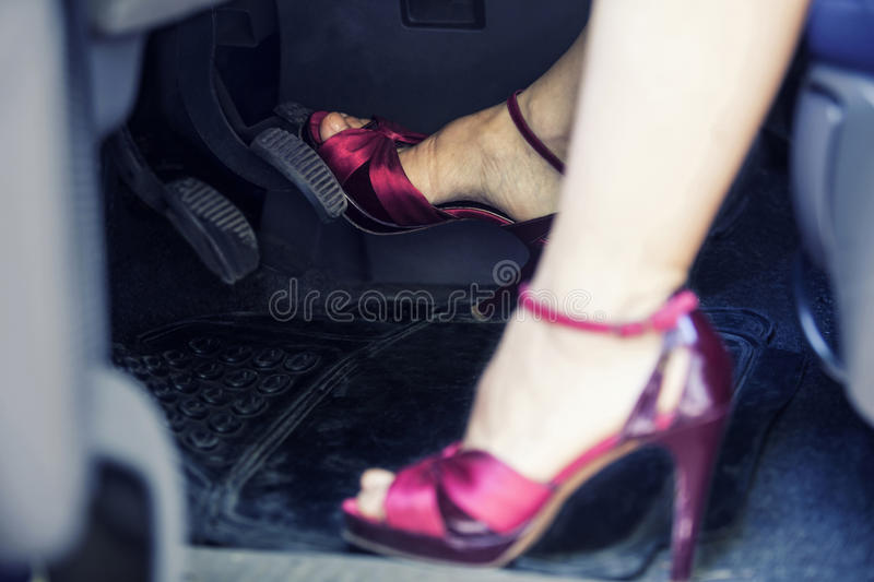 Lady driver royalty free stock images