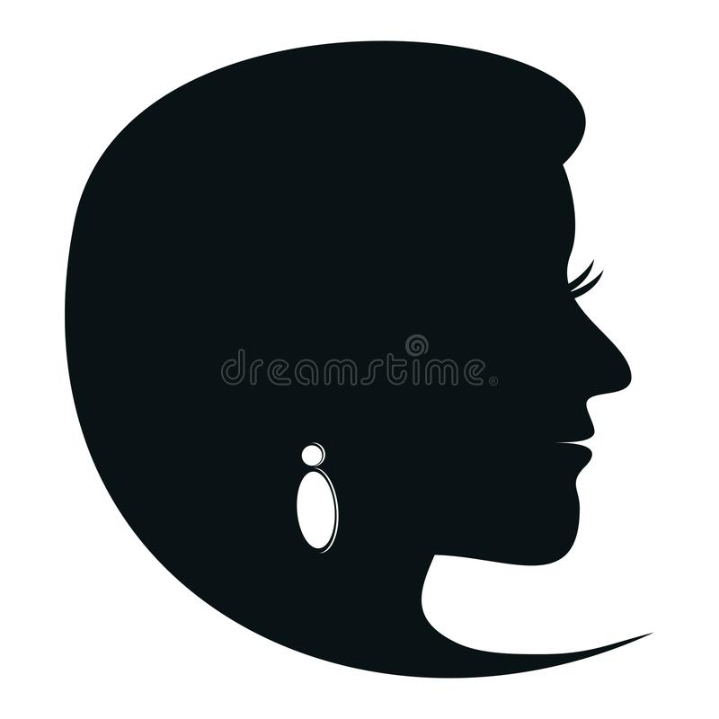 Lady with earring vector illustration