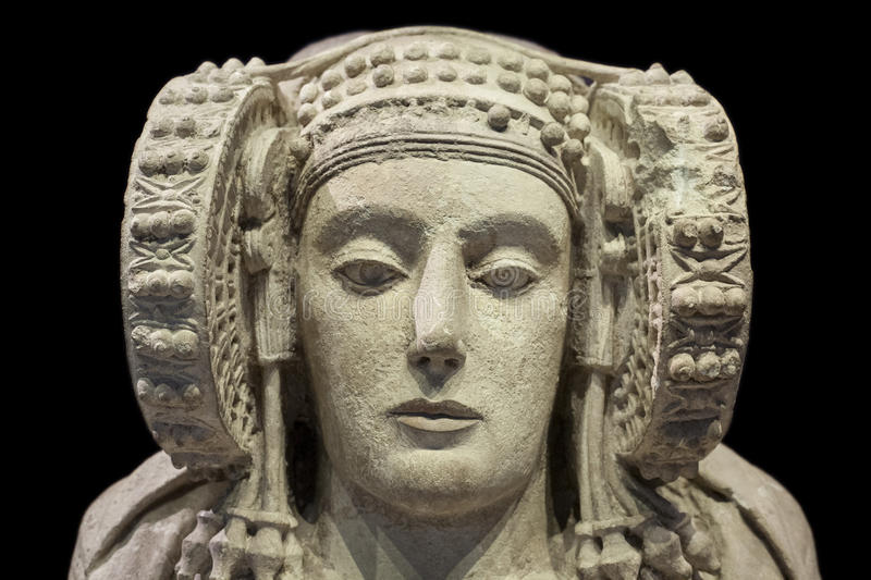 Lady of Elche, most important piece of Iberian art stock photos