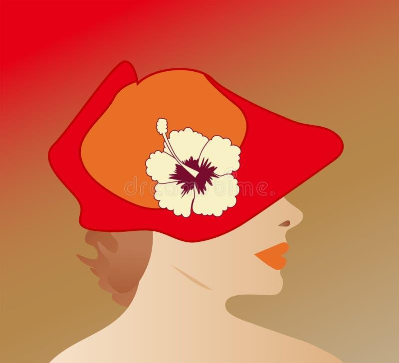 lady för 3 hatt royaltyfri foto