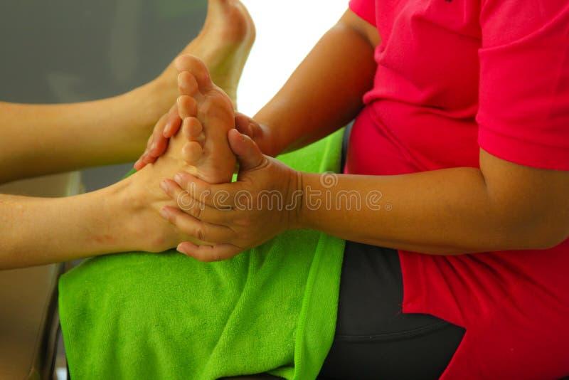 Foot massage thai royalty free stock photos