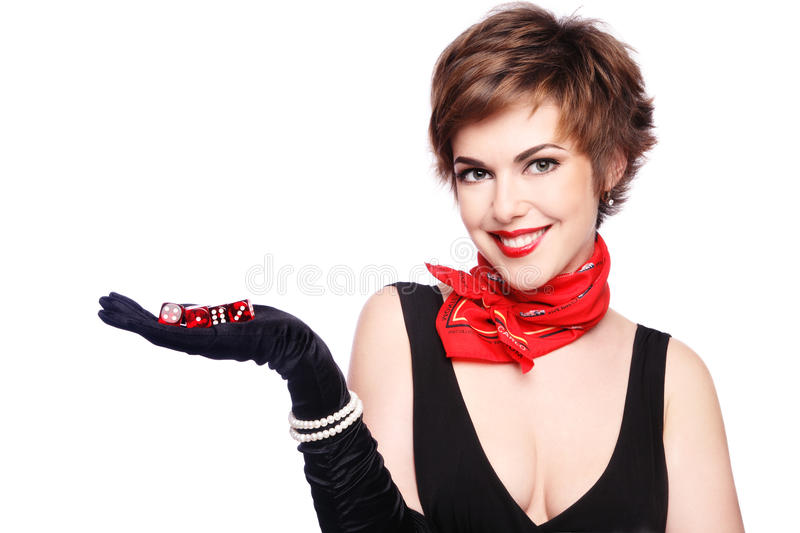 Lady Fortune royalty free stock photography