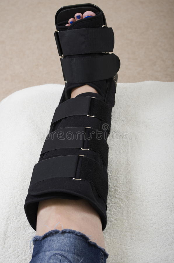 Lady with Fractured Leg stock images