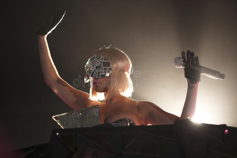 Lady gaga. On her recent european tour