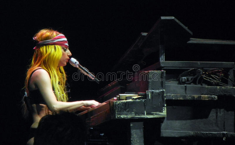 Lady Gaga Live Feb 28 2011 Editorial Stock Photo
